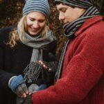 Handschuhe Kappe natur