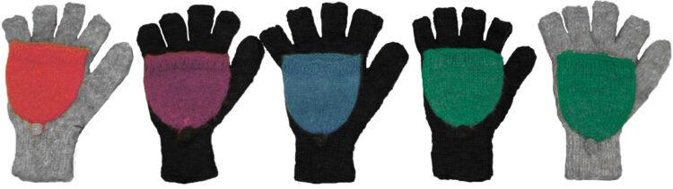 Handschuhe Kappe bunt