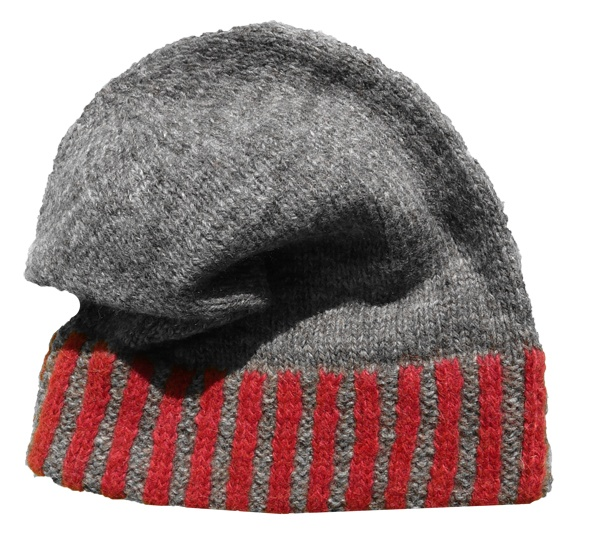 Mütze Klassik Streifen mit doppeltem Rand bunt