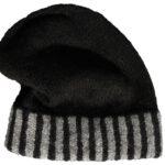 Mütze Klassik Streifen mit doppeltem Rand natur