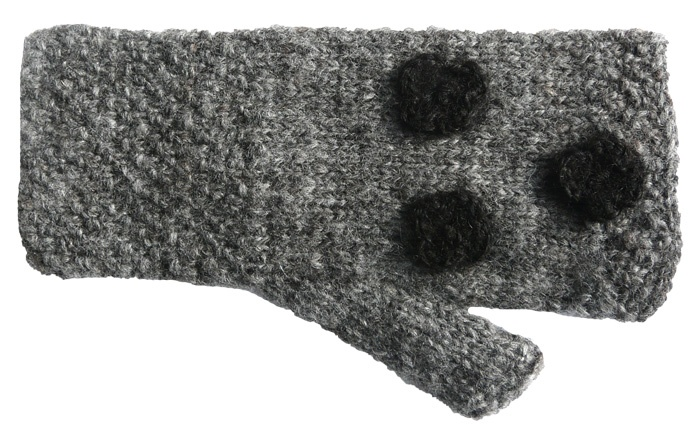 Pulswärmer Strickmuster/Blumendesign