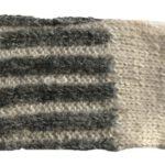 Pulswärmer Streifen Daumenloch natur