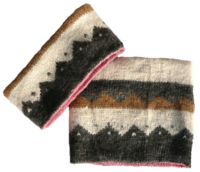 Wendeschal/Stirnband Muster/uni