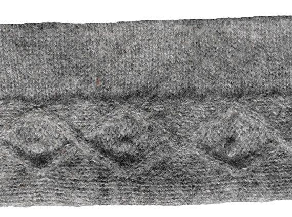 Wende Schal/Stirnband Zopf natur